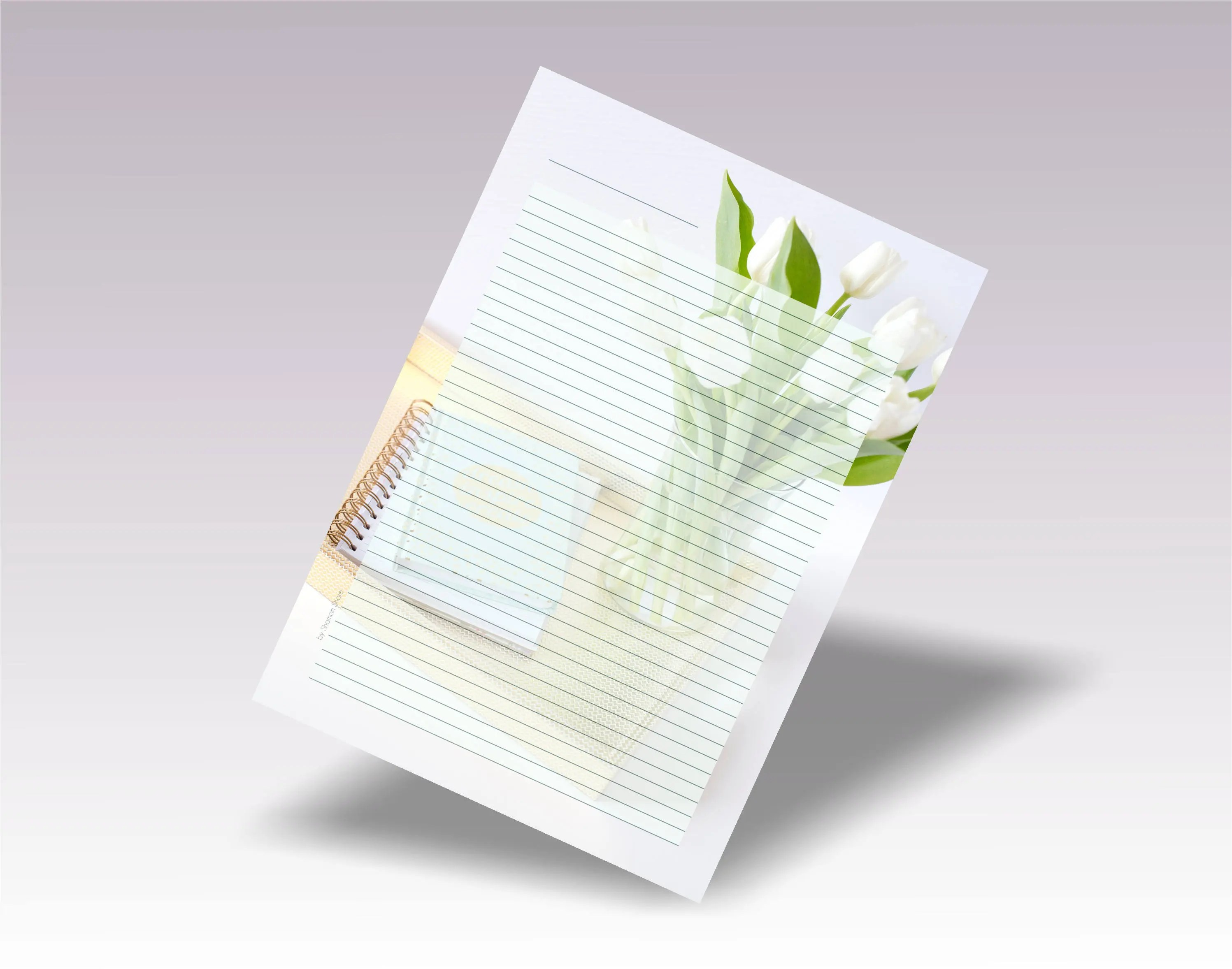 Blank Lined Diary Page Template Pdf Diary Paper A4 Size Etsy