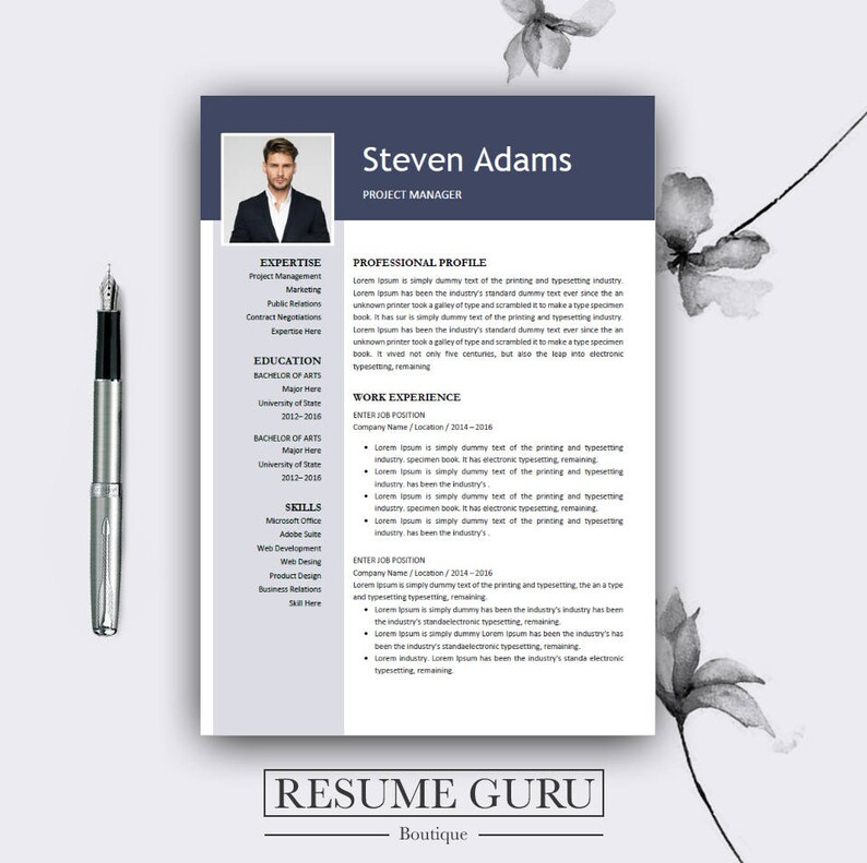 Resume Template Best Template Resume Template Word Etsy