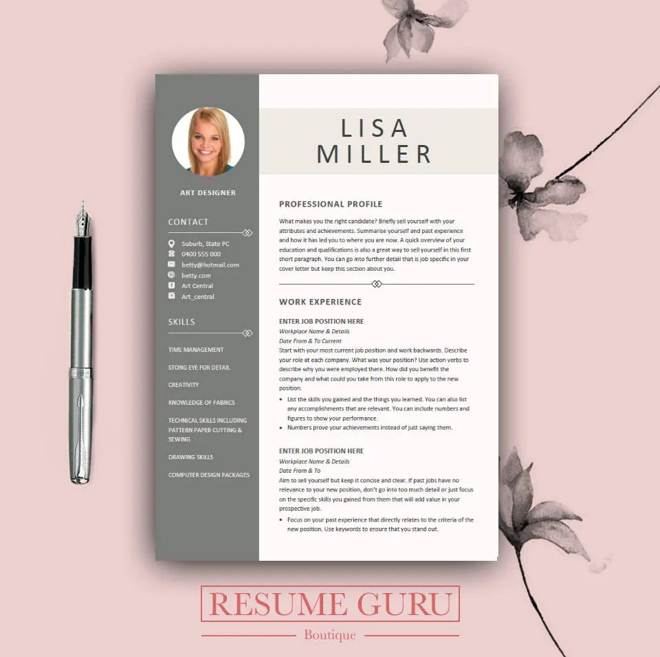 cv design download word
