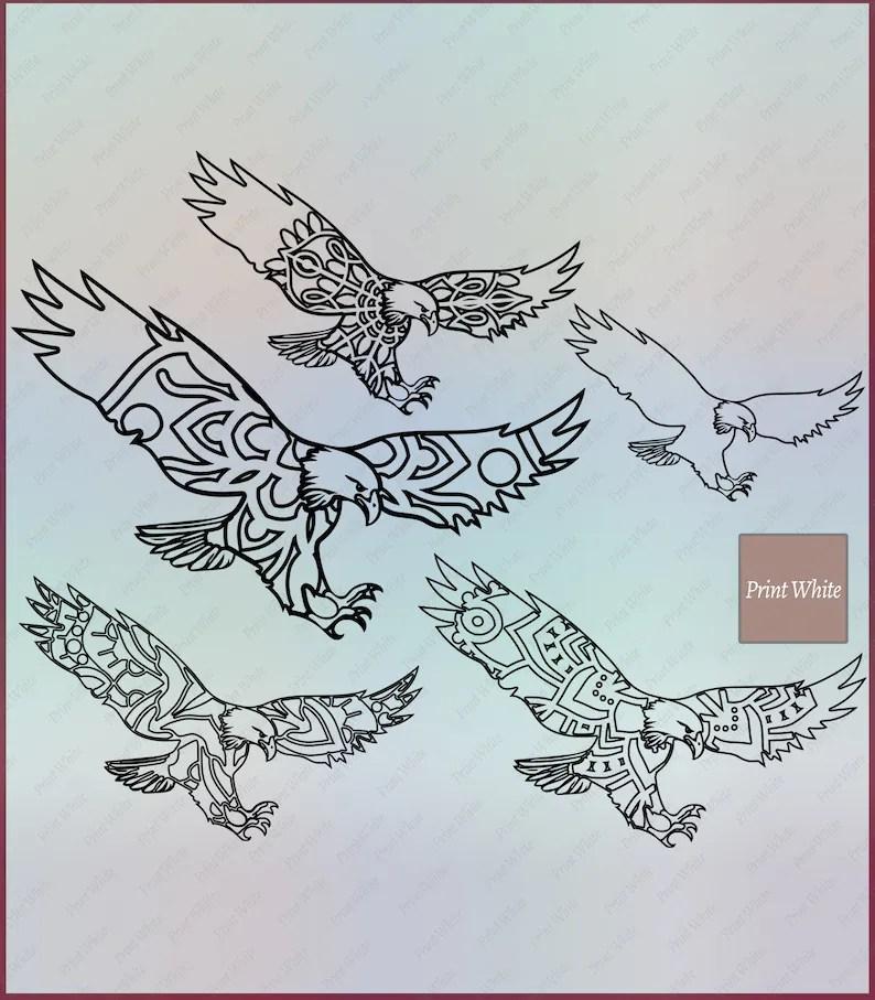 Eagle Stencil Digital Download Svg Png Dxf Eagle Svg Eagle Etsy