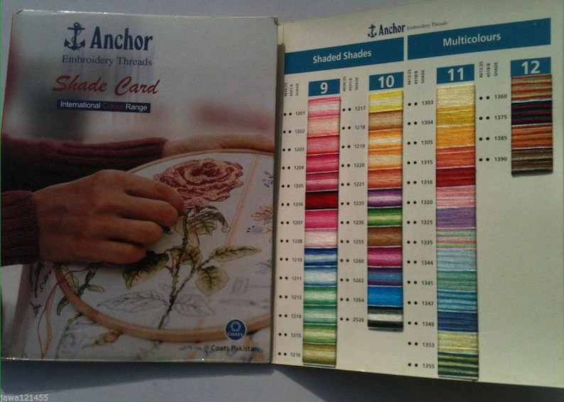 ANCHOR Shade Card Chart Book Colour Book color chart Solid and Etsy