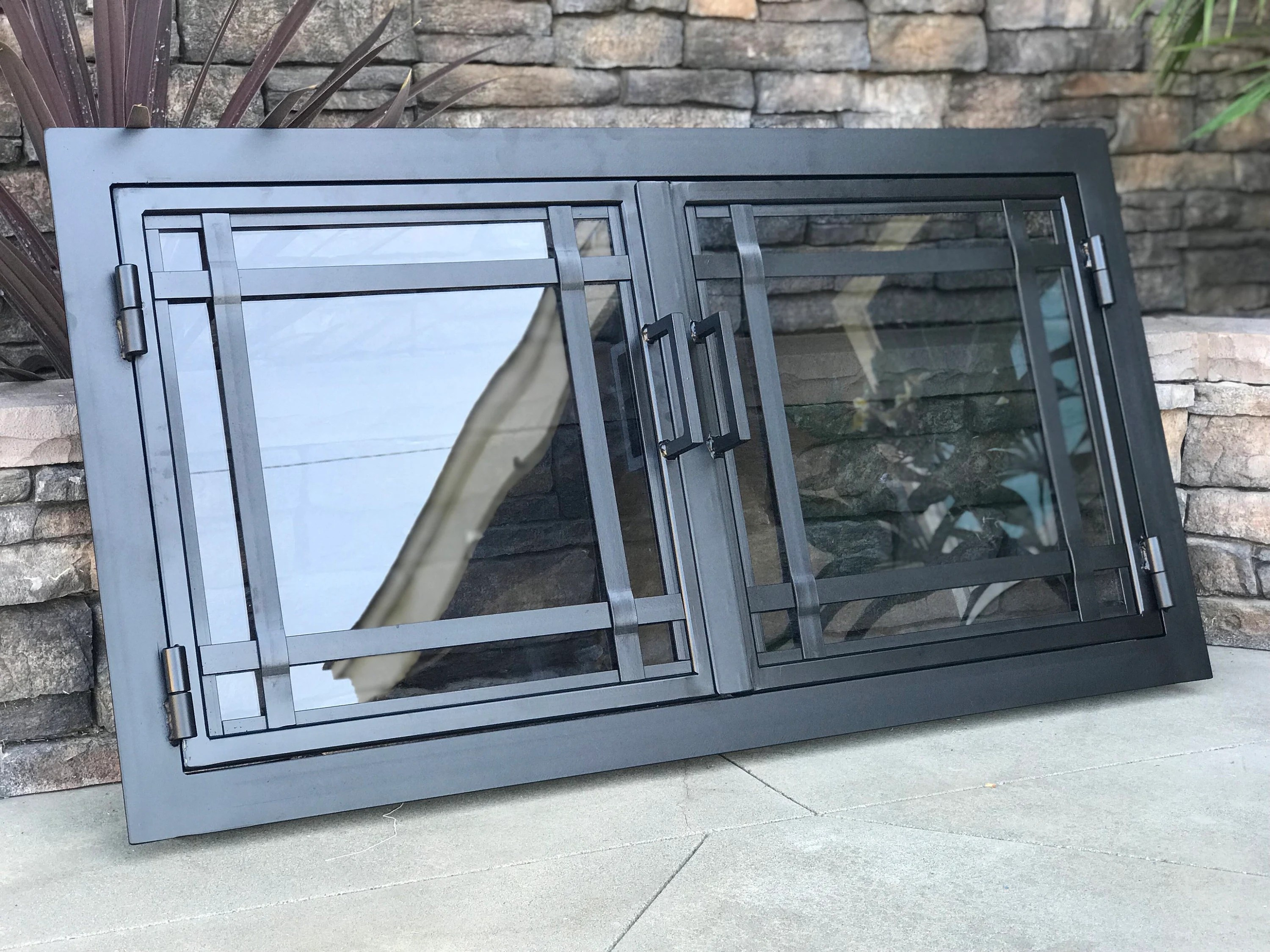 Custom Glass Fireplace Doors Hand Made Iron Fireplace Doors Custom Made To Fit Your Fireplace
