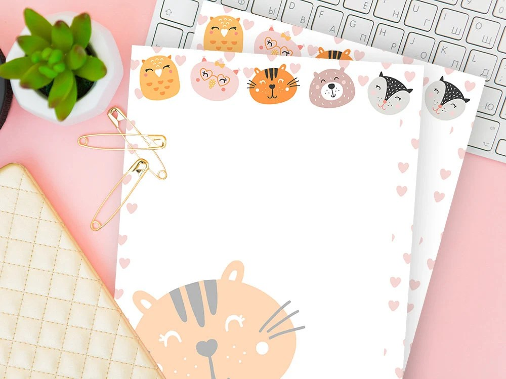 Kindergarten Lined Paper Printable Download Stationery Etsy