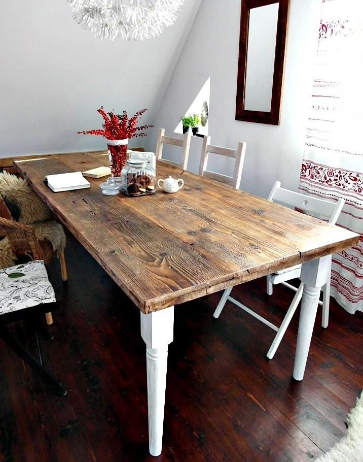 10 Seater Kitchen Table Hand Crafted 6 8 10 Seater Farmhouse Country House Style Reclaimed Wood Dining Table Handmade Kitchen Table Old Wood White Brown Rustic