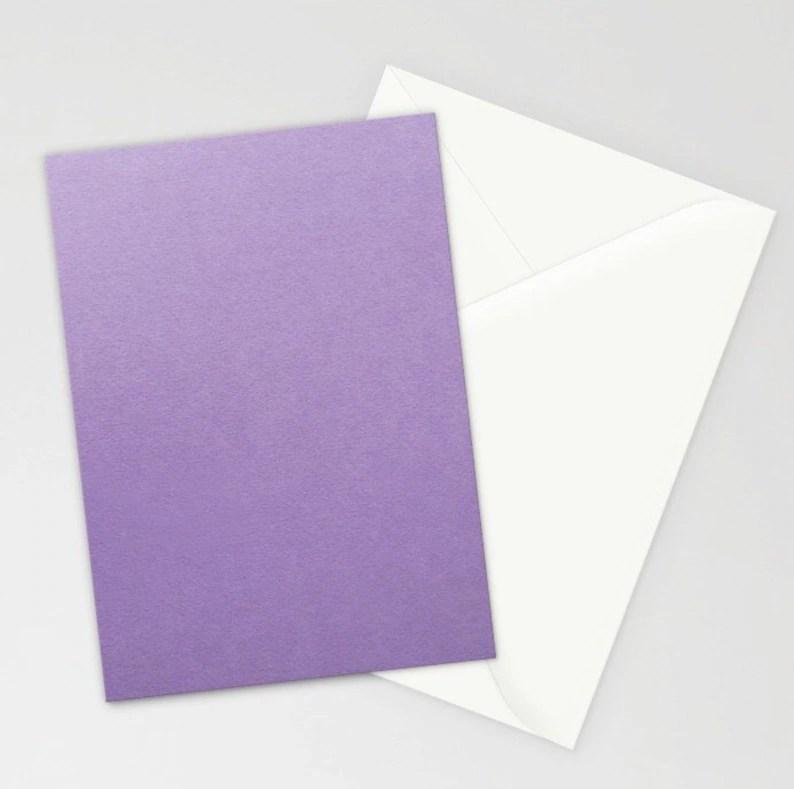 Lavender Stationery Purple Stationery Set Blank Purple Etsy
