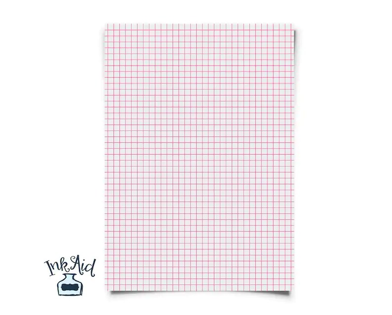 Print Your Own COLORED GRID Graph Paper 1/4 inch squares Etsy
