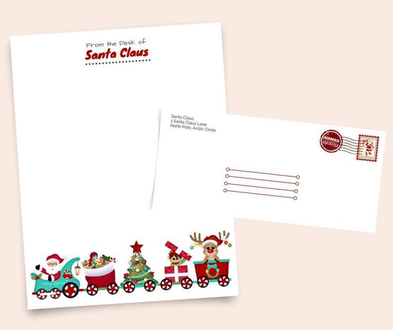 Holiday Stationery Printable Santa Claus Elf Christmas Etsy