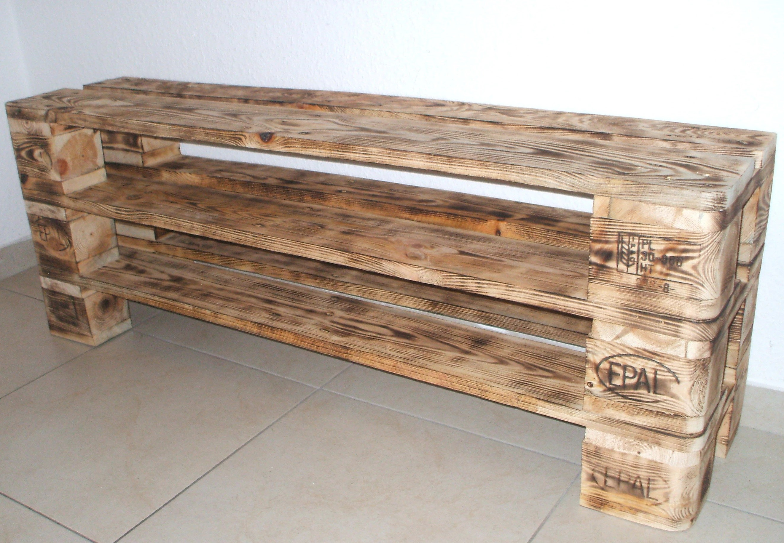 Palettenmöbel Geflammt Shoe Rack Versen With 3 Floors Geflammt Made Of Pallets