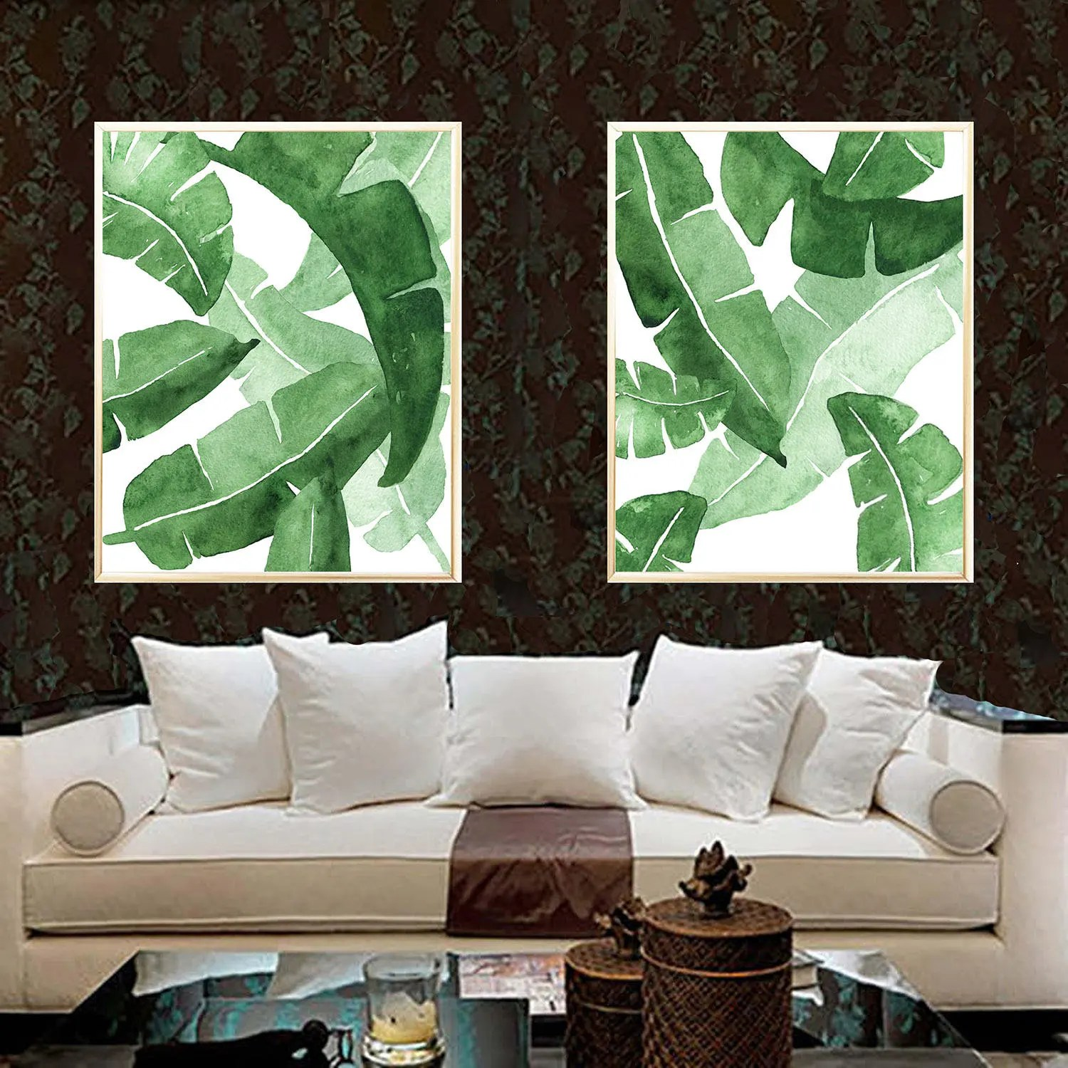 Poster 40x50 Banana Leaf Art Print Banana Leaves Digital Art Banana Leaves Poster 40x50 Cm