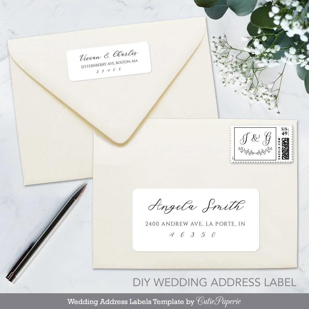 Printable Address Label Calligraphy Address Label Template Etsy