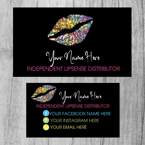 Lipsense Business Cards SeneGence Business Card Lip Sense Etsy - lipsense business card