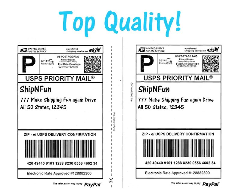 50 Shipping Labels Top Quality Jam Free 2 Labels per Sheet Etsy