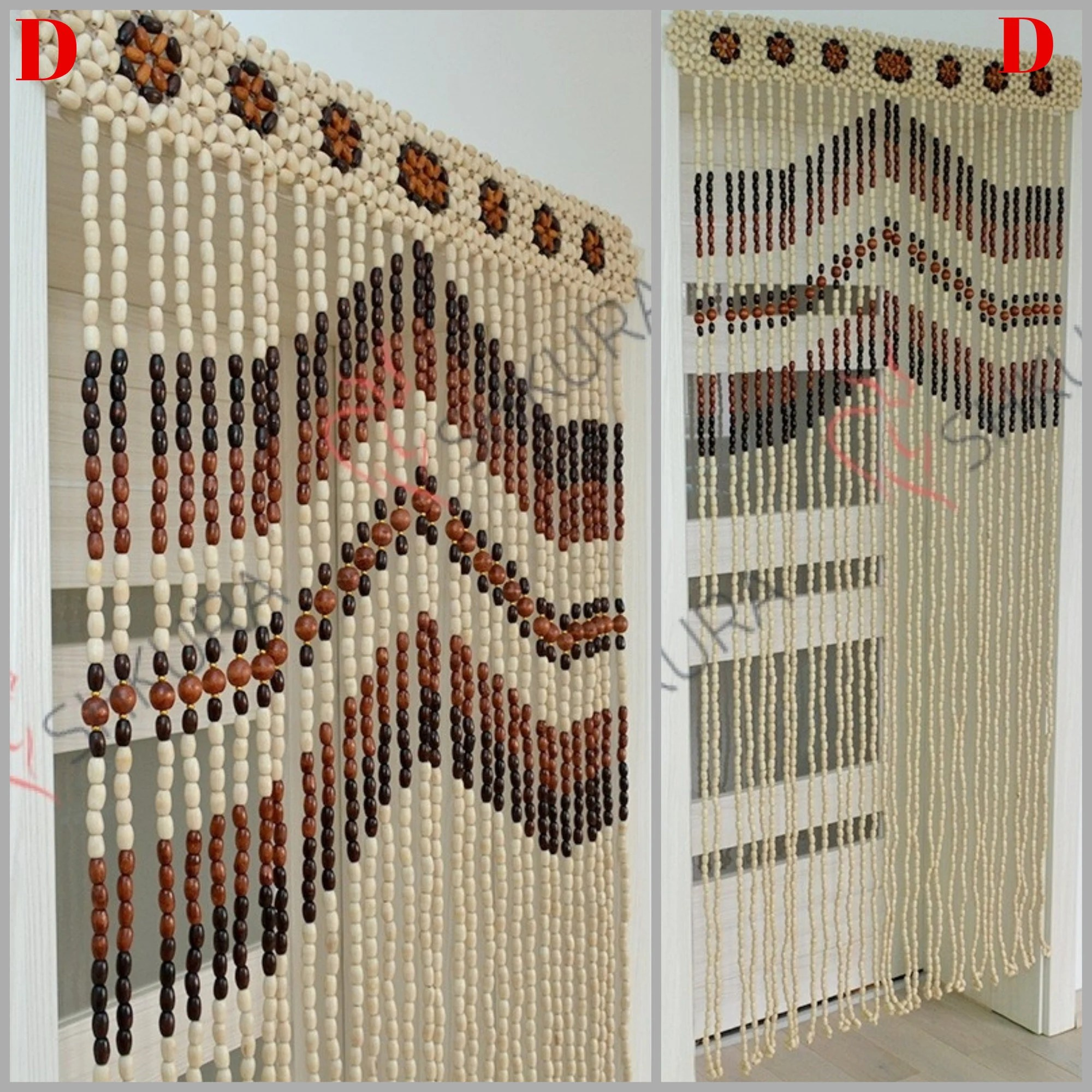 Wooden Door Blinds Beaded Door Curtain Ivory Color Decor Wood Curtain Gift Blinds Door Beads Curtains Beaded Wood Bead Door Curtain Handmade Door Curtain