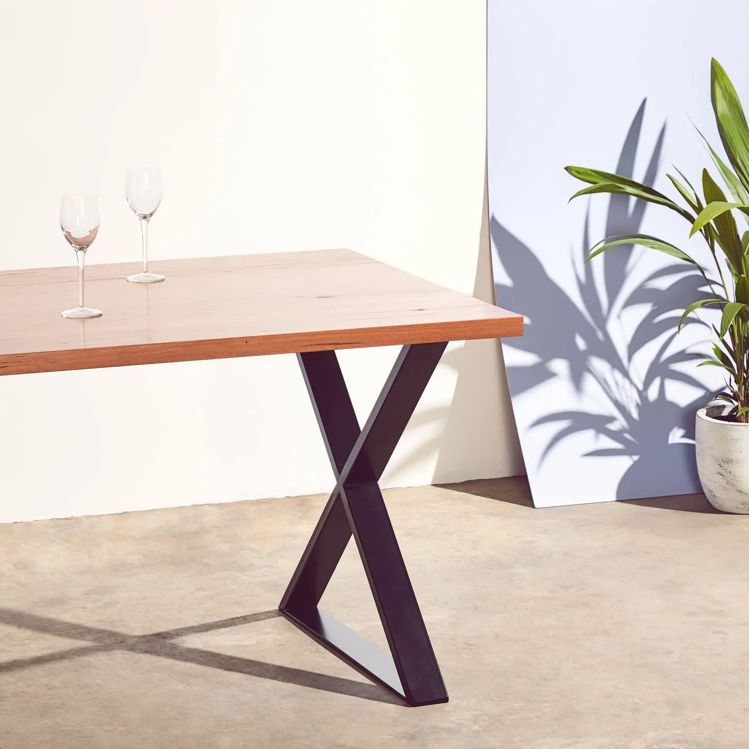 Hairpin Legs Melbourne Oakleigh Reclaimed Messmate Timber Table With X Table Legs