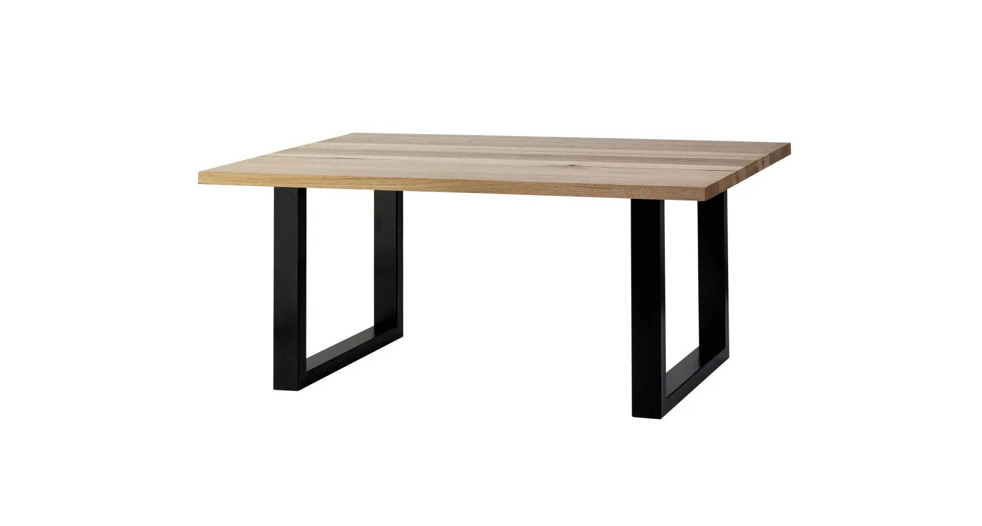Hairpin Legs Melbourne Brighton Reclaimed Messmate Table With Chunky Square Frame Table Legs