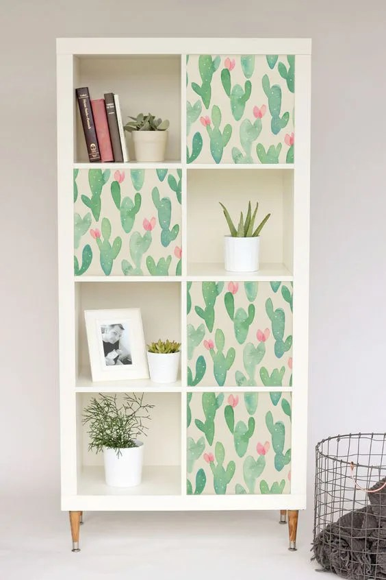 Ikea Küche Expedit Decals For Ikea Kallax Expedit Cactus Stickers Pastel Nursery Ikea Hack Furniture Decal Repositionable Covering Color Diy 3ka