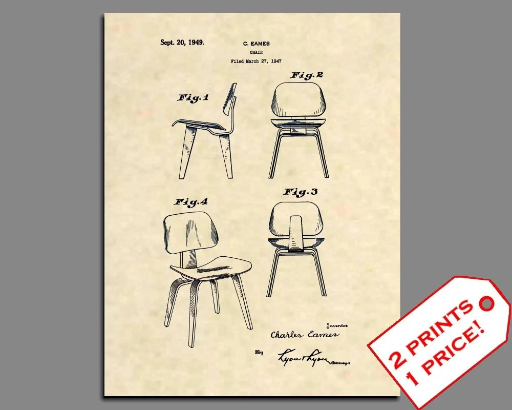 Eames Chair Patent Patent Art Charles Eames Chair Patent Print Mid Century Modern Patent Prints Art Deco Wall Art Eames Furniture Patent Poster 252