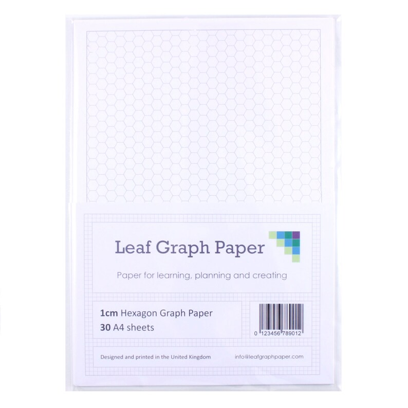A4 Graph Paper Pack 1cm 10mm Hexagon 30 Loose-Leaf Sheets Etsy