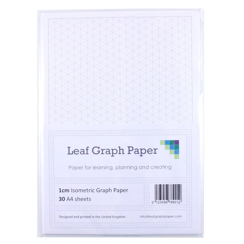 A4 Graph Paper Pack 1cm 10mm Isometric 30 Loose-Leaf Sheets Etsy