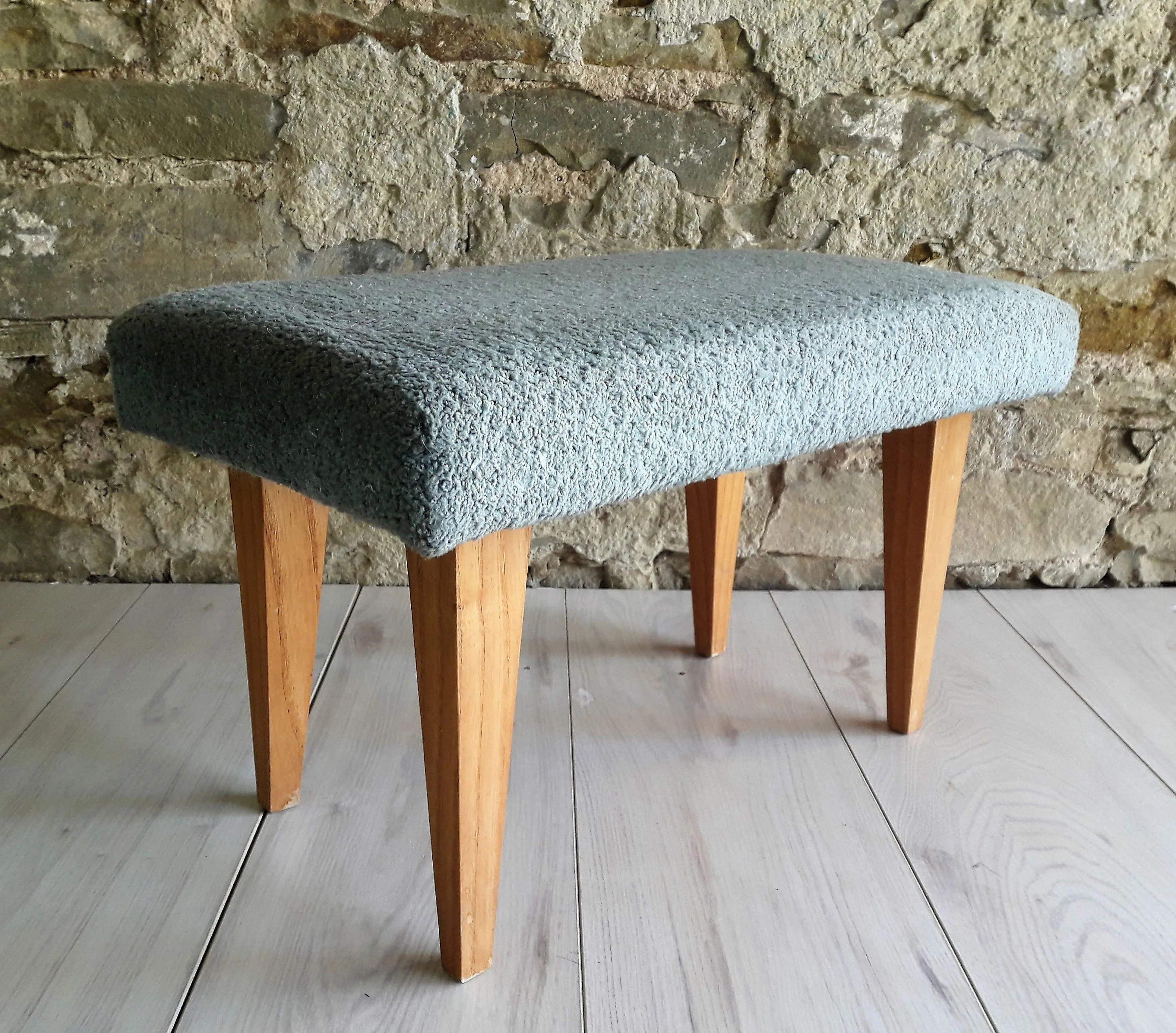 Hocker Vintage Vintage Mid Century Cushion Stool Retro Hocker Step Stool Italy 60s