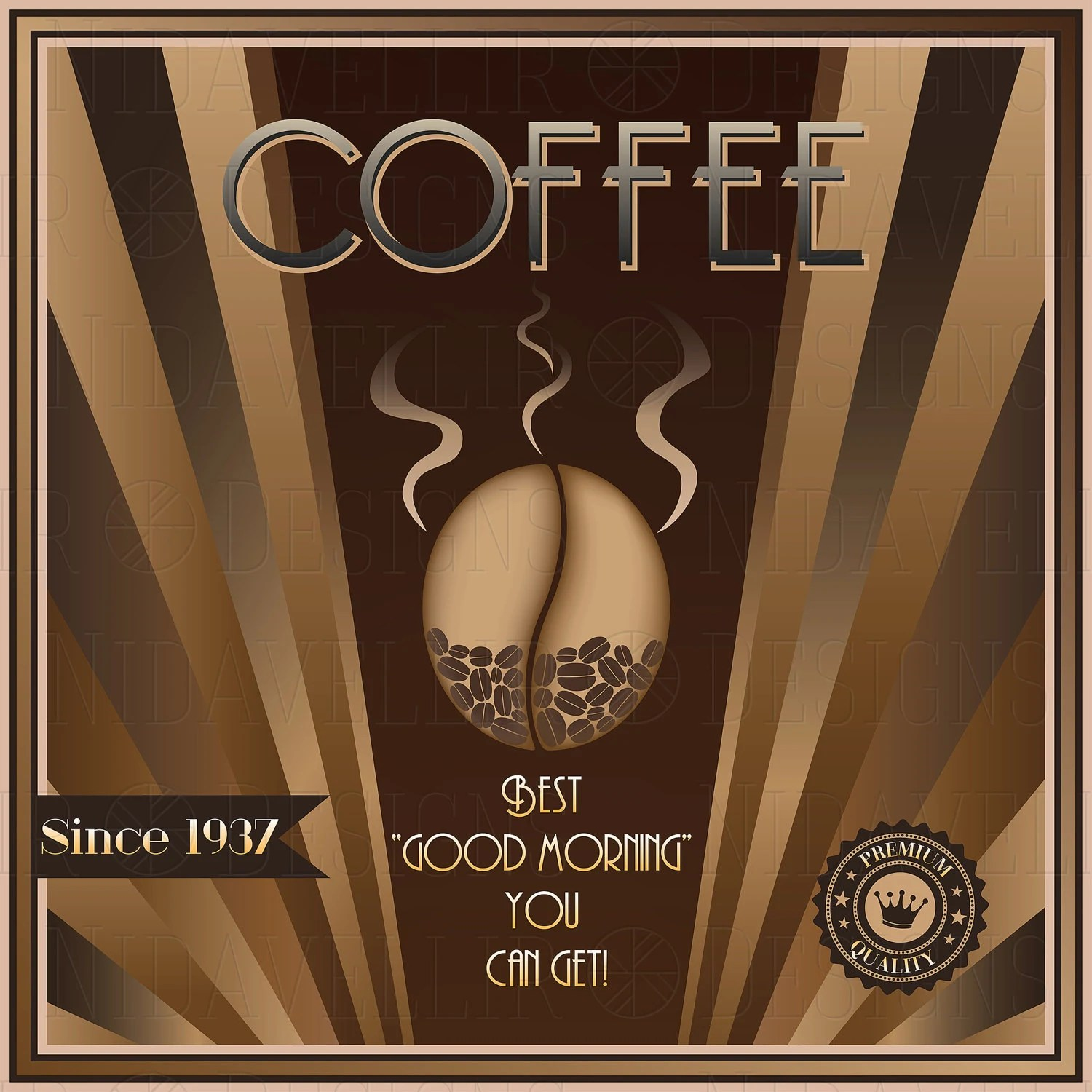 Deco Poster Coffee Art Deco Poster