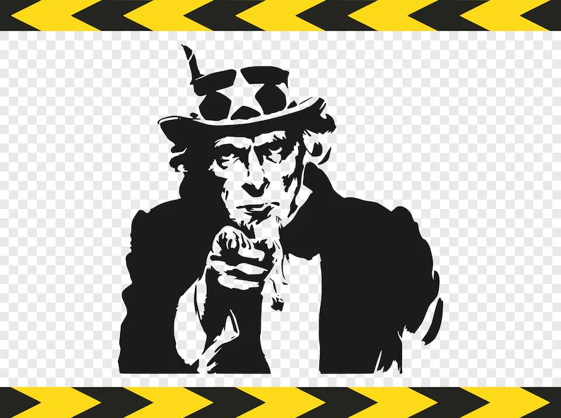 Uncle sam SVG Decal Printable US army Silhouette pictures Etsy
