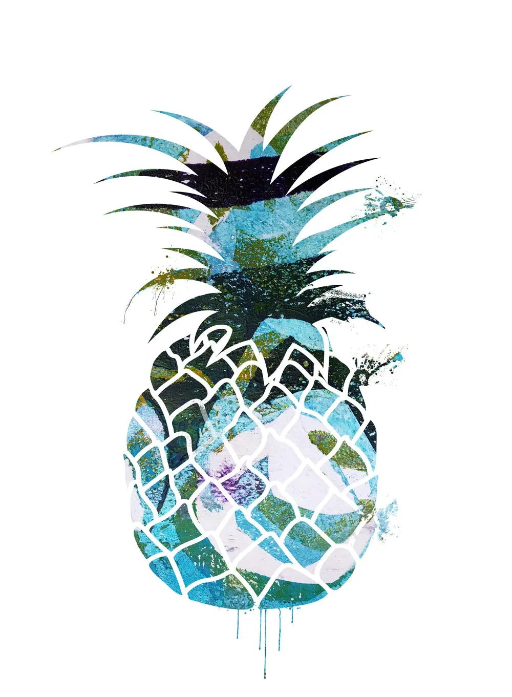 Ananas Bilder Printable Ananas Tropical Pineapple Wish Card Instant Download Art Poster Print Yourself Pineapple Print And Frame It Today
