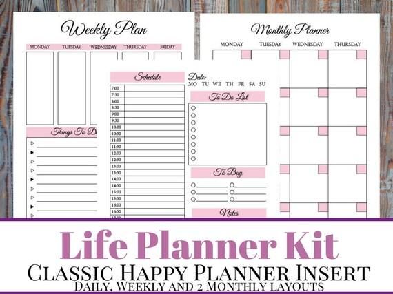 hourly daily planner printable - Pinarkubkireklamowe