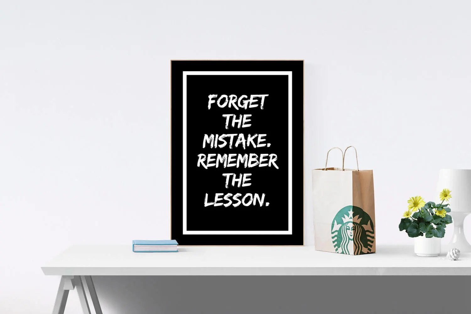 Eclairage Exterieur Home Depot Forget The Mistake Remember The Lesson Motivational Print Inspirational Print Printable Quote Home Decor Office Decor