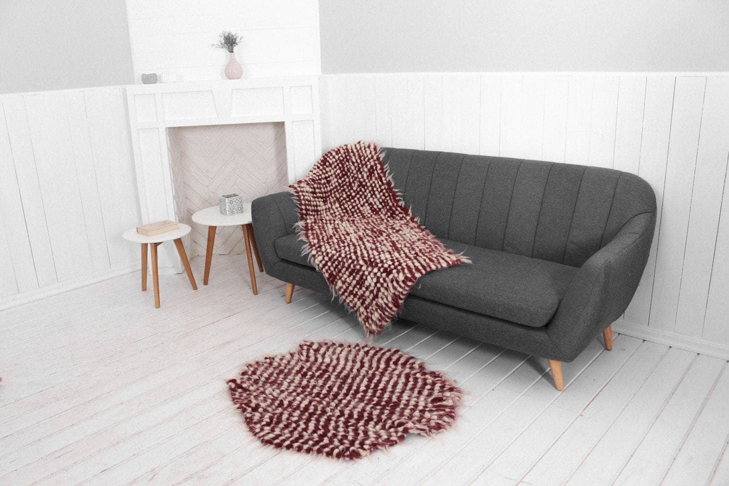 Sofa 150 Cm Accent Throw Blanket Wool Sofa Cover Armchair Coverlet Small Throw For Sofa Hand Woven Chair Throw Sofa Throw Red Decorative Blanket