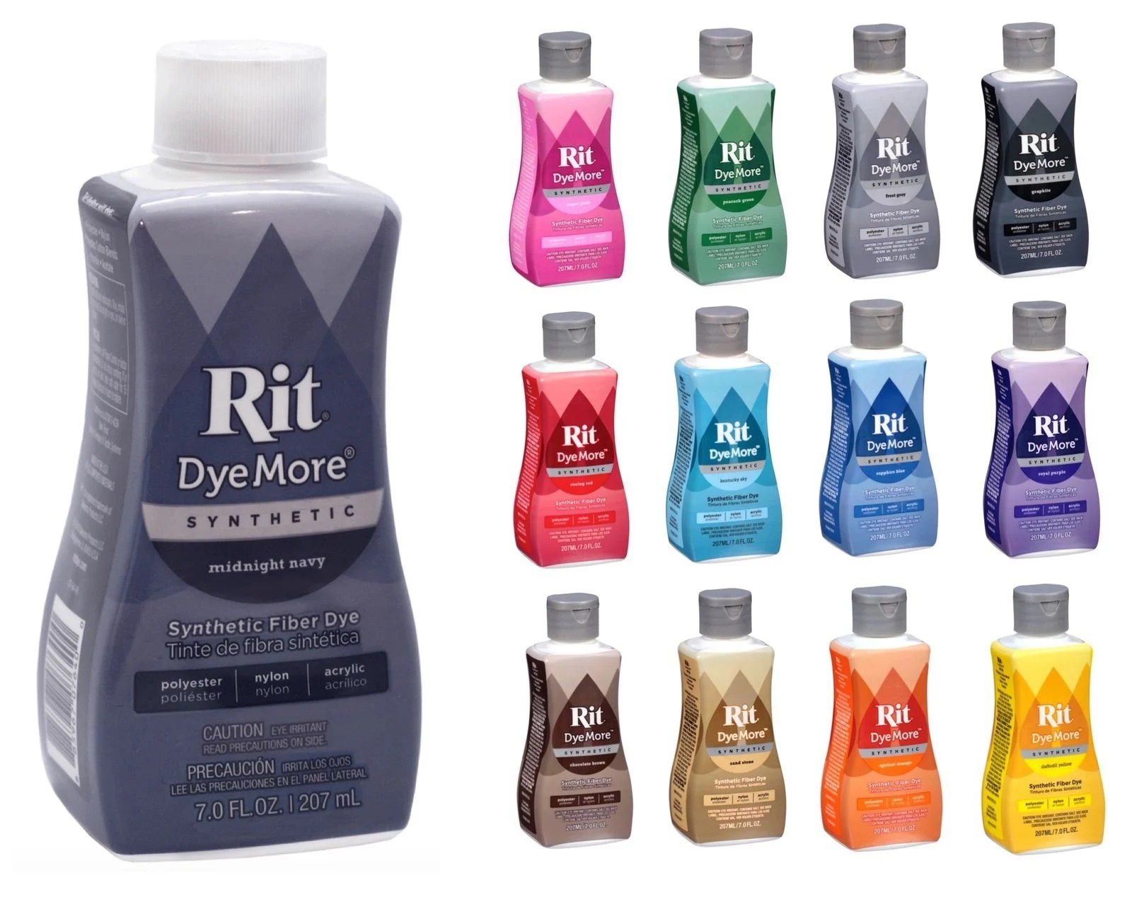 Rit DyeMore Advanced Liquid Dye For Synthetics Polyester Nylon Etsy