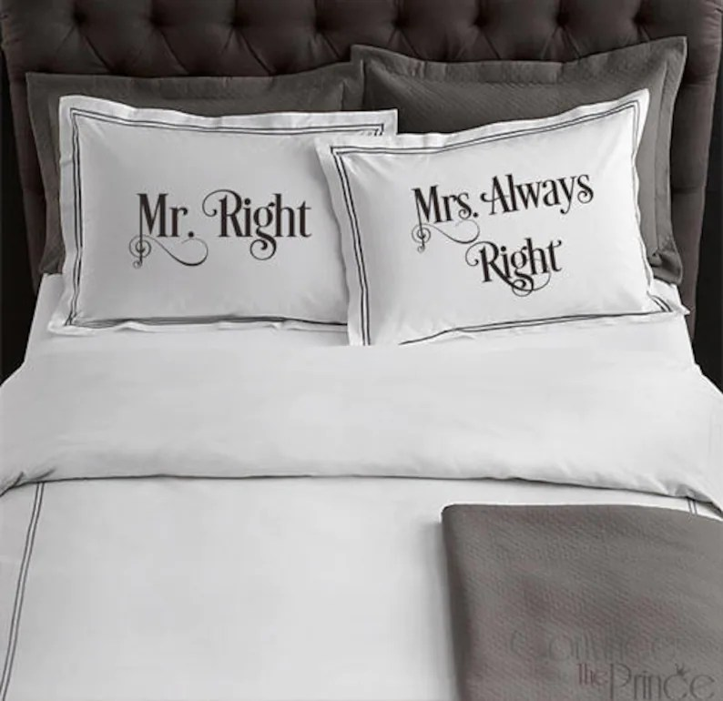 Mr Right Mrs Always Right Bettwasche Bettwäsche Gallery