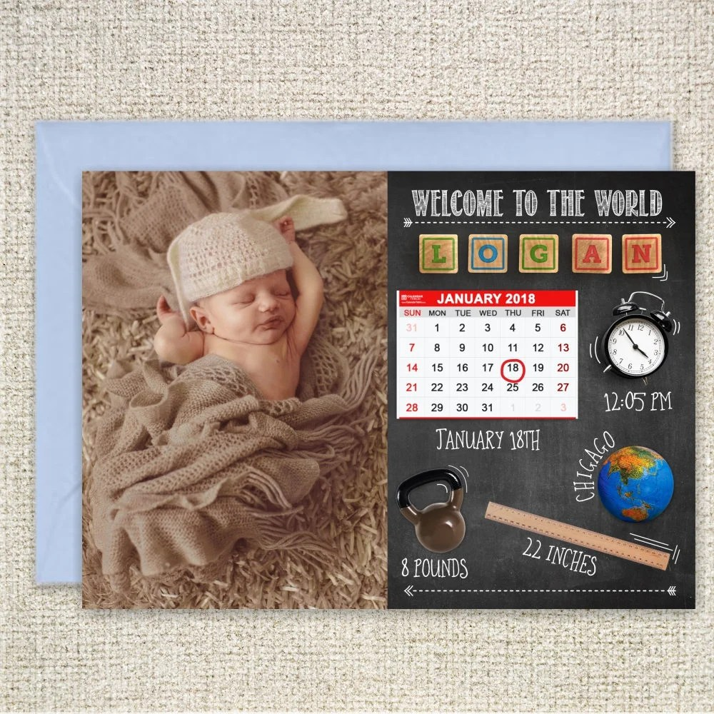 Funny Printable Birth Announcement Cards Photo Collage Birth Etsy