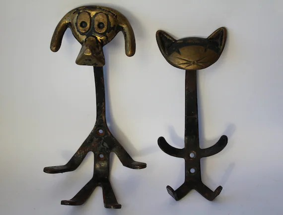 Soviet Wall Hook Dog And Cat Dog Cat Soviet Coat Hook Etsy