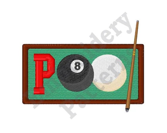 Pool Word Machine Embroidery Design Etsy
