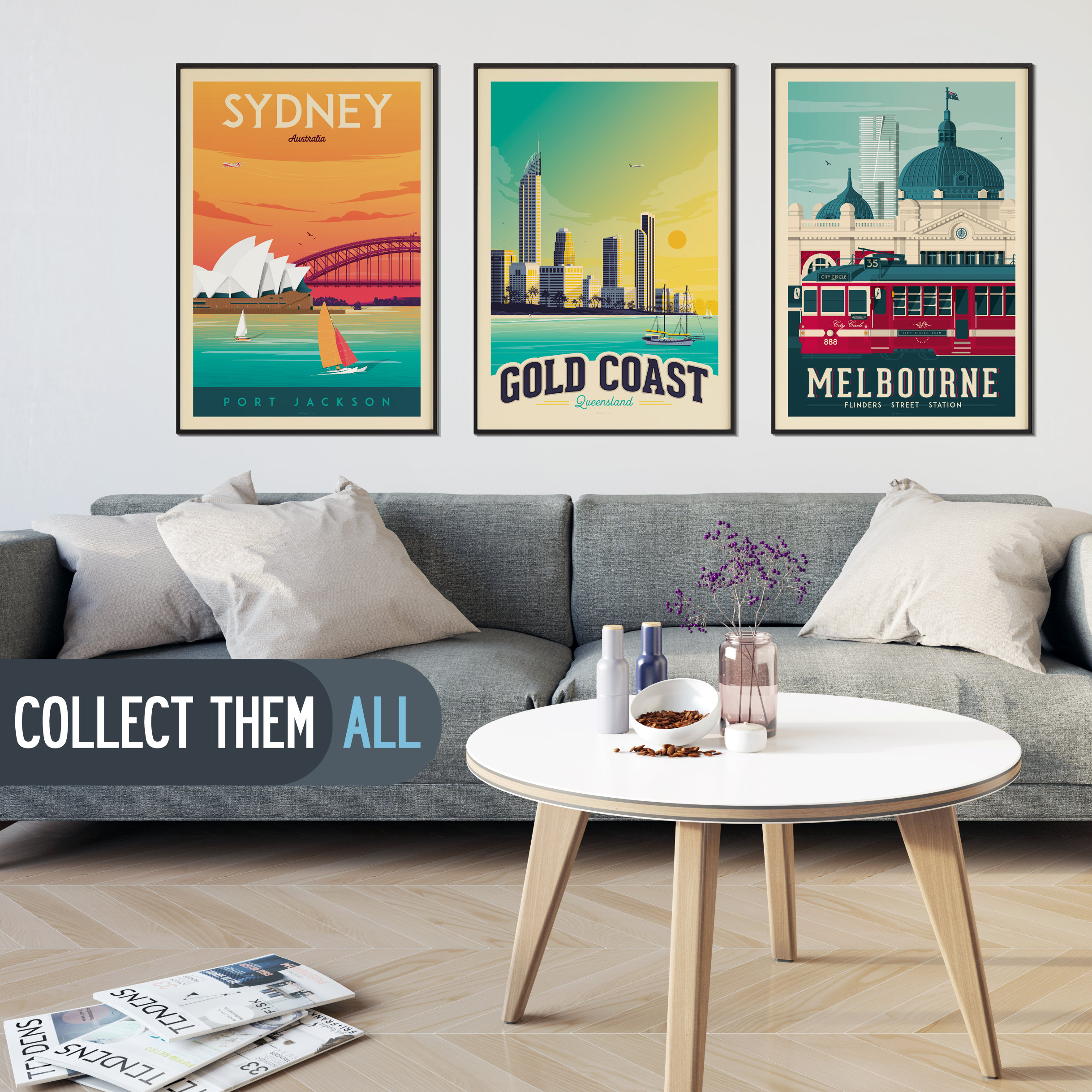 Wall Prints For Living Room Australia Perth Australia Vintage Print Perth Travel Poster Beach Print