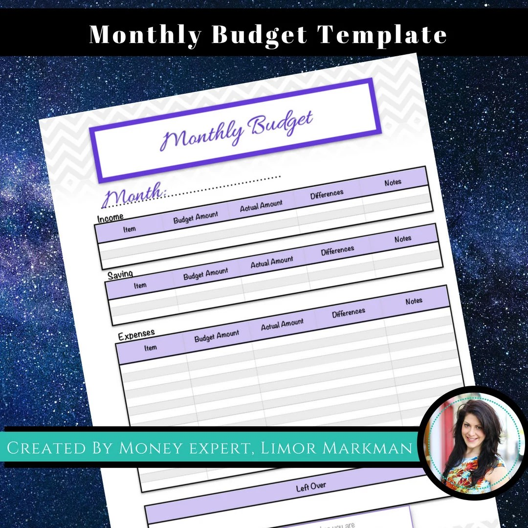 Monthly Budget Template / Budget Tracker / Spending Tracker Etsy