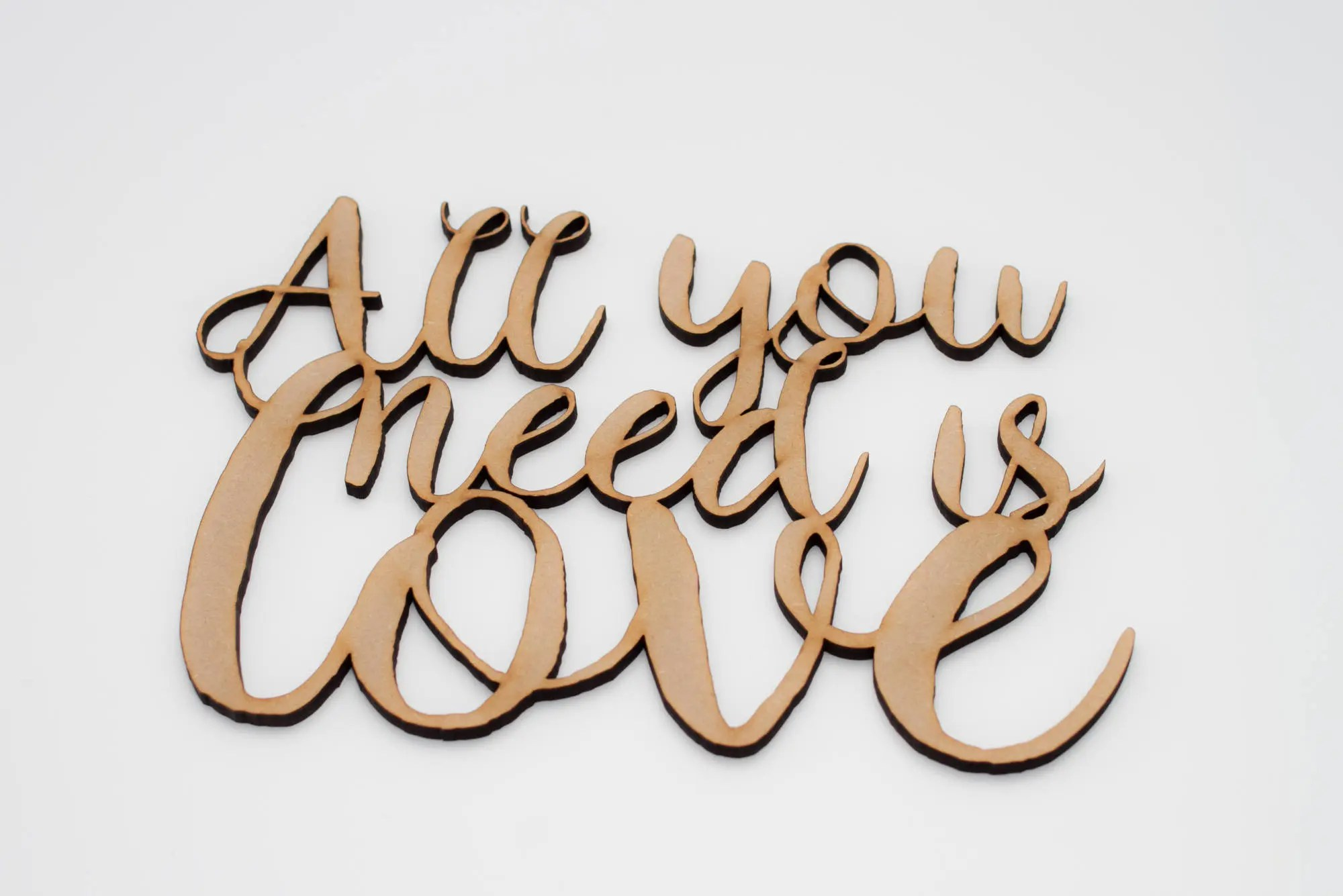 All you need is love Wood Lettering wood letters wood Etsy