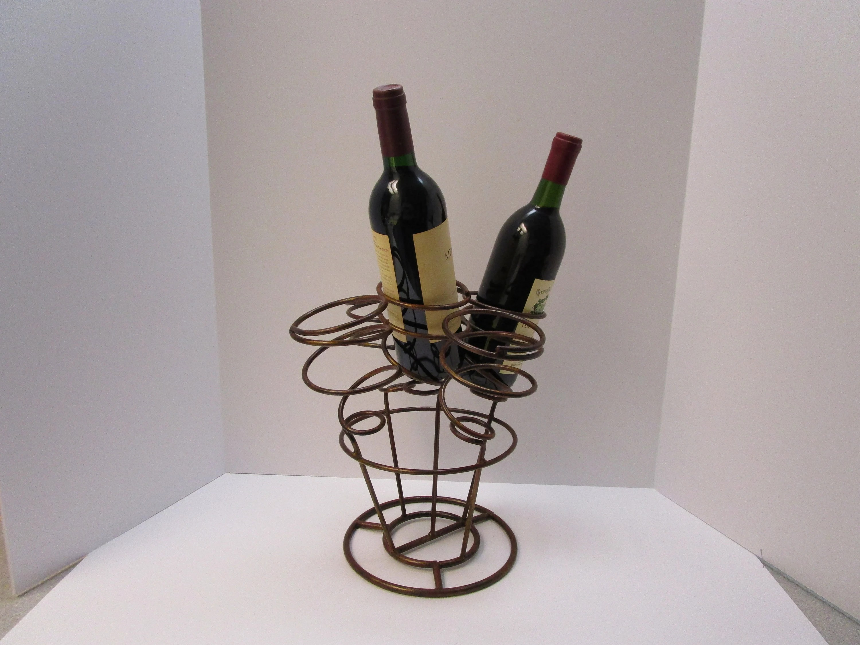 Wine Holder Stand Metal Wine Rack Wine Stand Wine Bottle Holder Rack 5 Bottle Wine Rack Stand Condiment Stand Buffet Server Stand Art Deco Wine Rack Stand