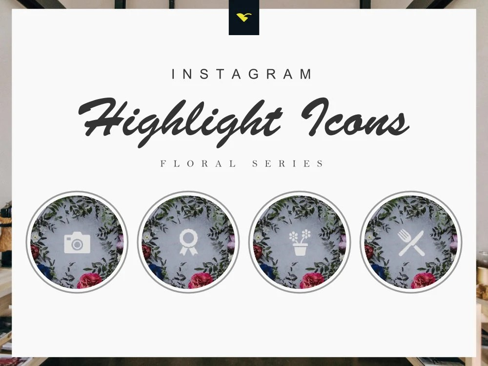 Instagram story highlight icons set of 190 icons floral Etsy