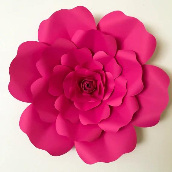 SVG Petal 36 Paper Flower Petal Template with Base DIGITAL Etsy