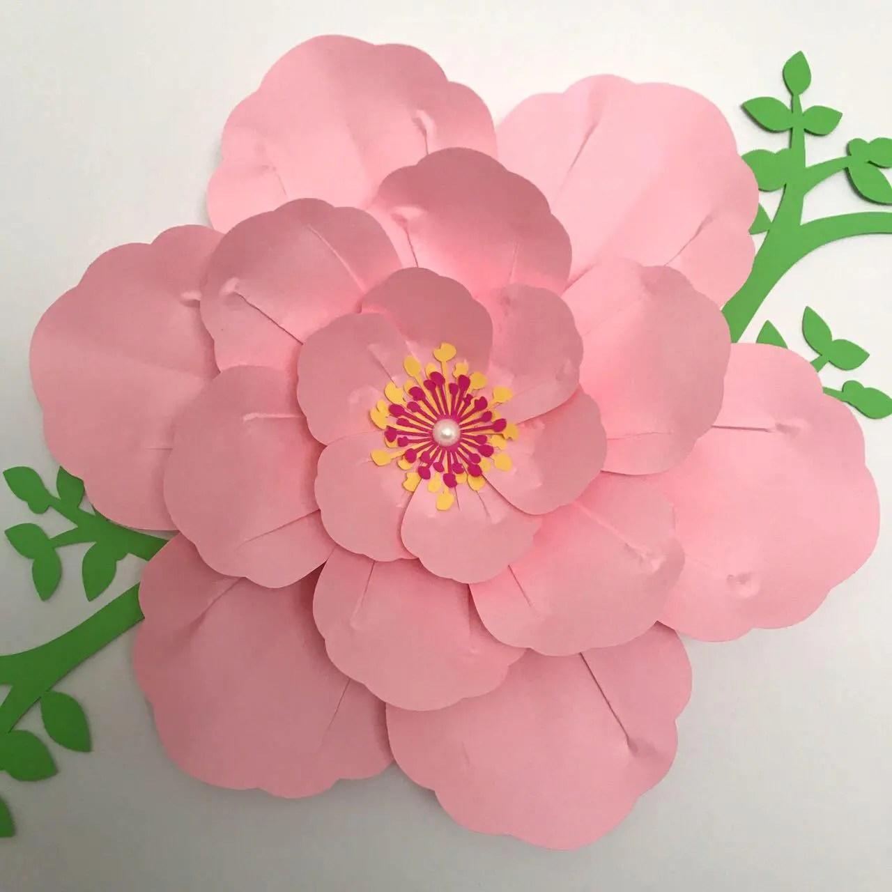Paper Flowers PDF Paper Flower Template Digital Version Etsy