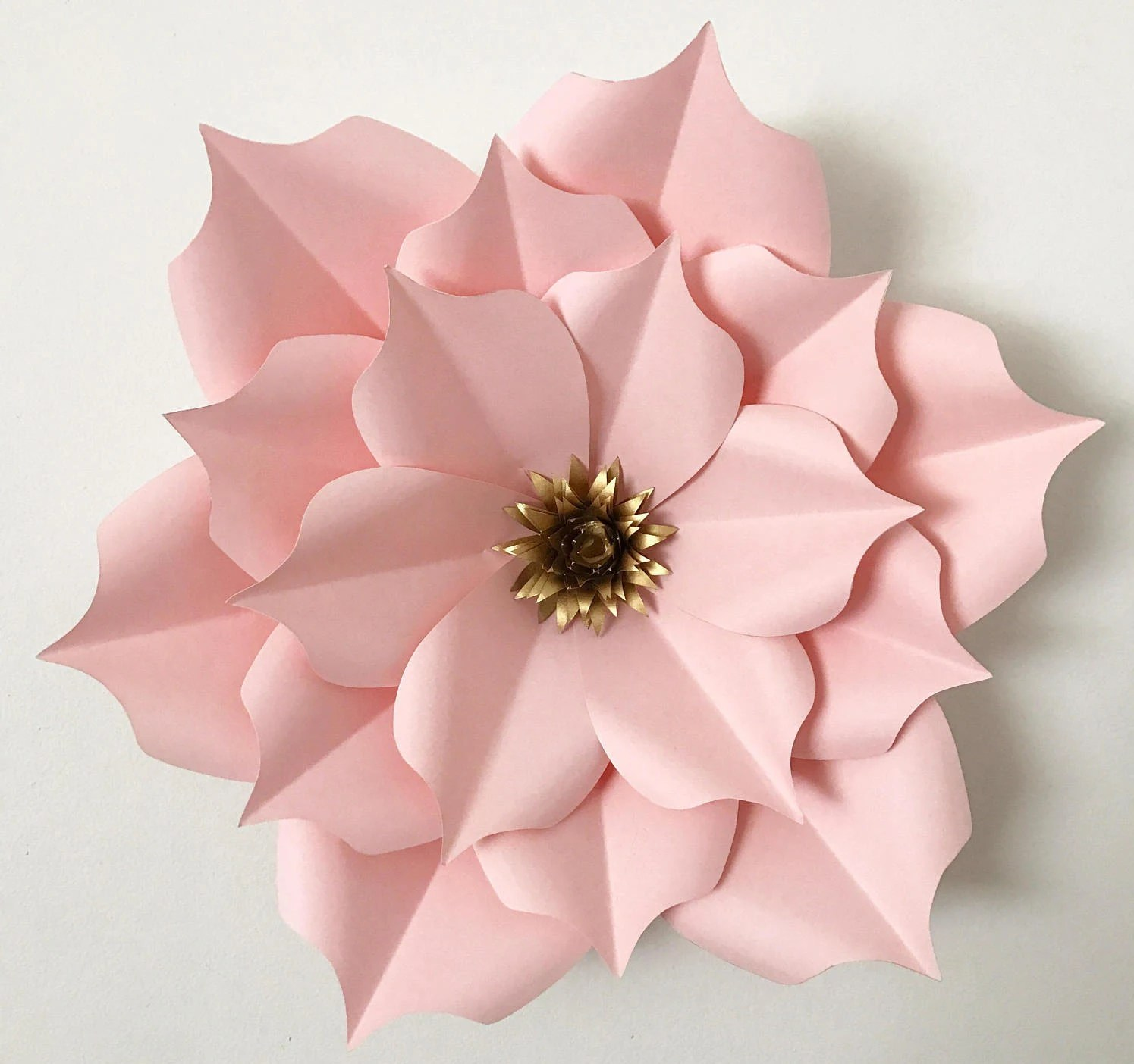 PDF Petal 5 Paper Flower template Printable for Trace and Cut - flower template