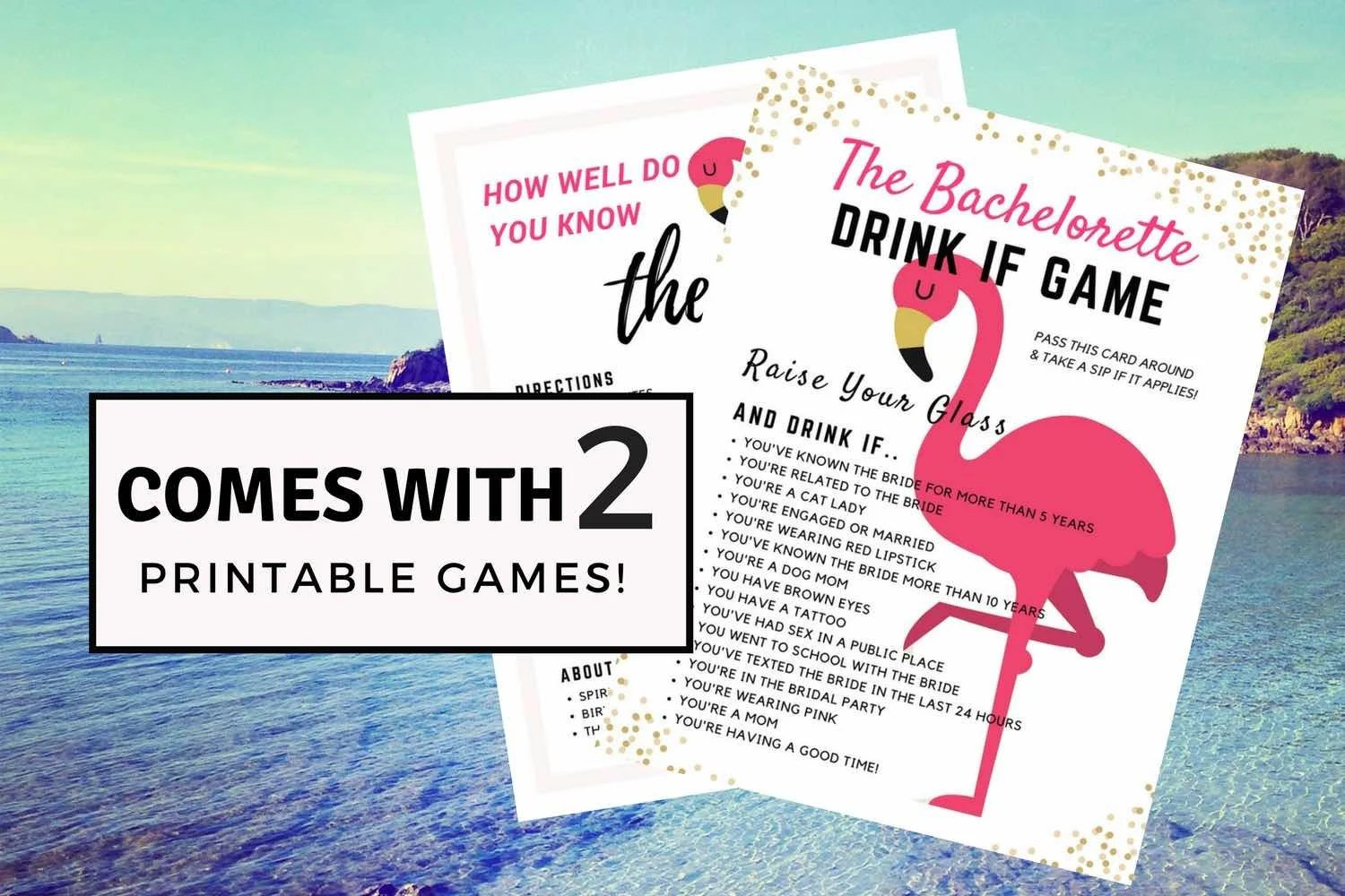 2 PACK Bachelorette Game Pack for Instant Download Editable Etsy