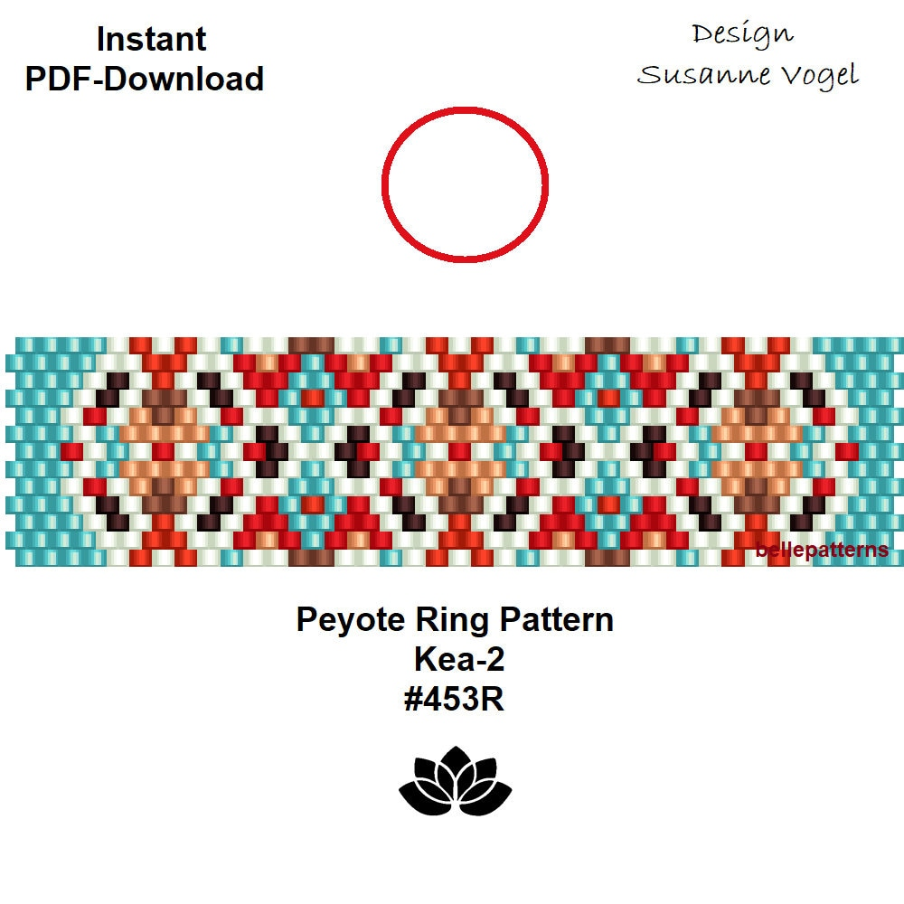 Kea Vogel Kaufen Peyote Ring Muster Pdf Pdf Download Digital Sofort Download Ring 453r 2 Varianten Schmuckanleitung Ring Muster Muster Design