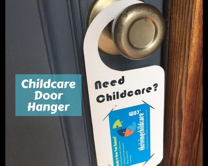 Childcare Door Hangers Marketing Advertisement Business Card Etsy