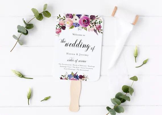 Editable Wedding Program Template Templett Ceremony Program Programs