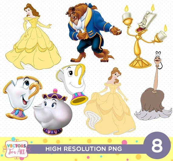 Beauty And The Beast CutOut Printable Beauty And The Beast Etsy