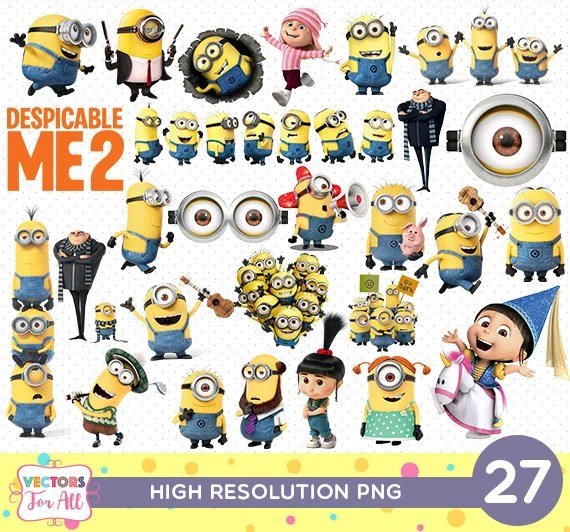 image regarding Minion Symbol Printable named Despicable Me Minions PNG CutOut Printable Minions PNG Data files