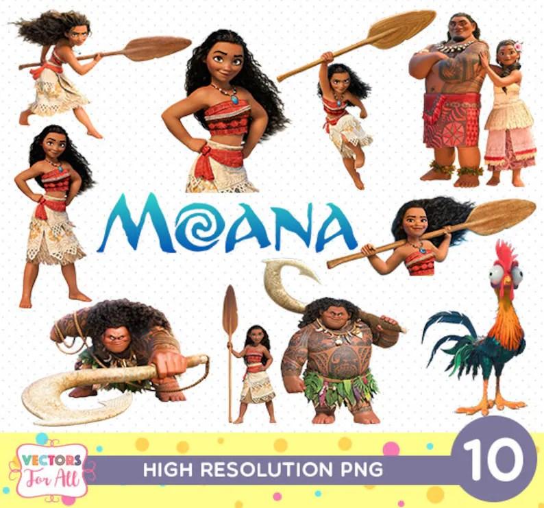 Moana Disney CutOut Printable Moana Disney PNG Files Moana Etsy